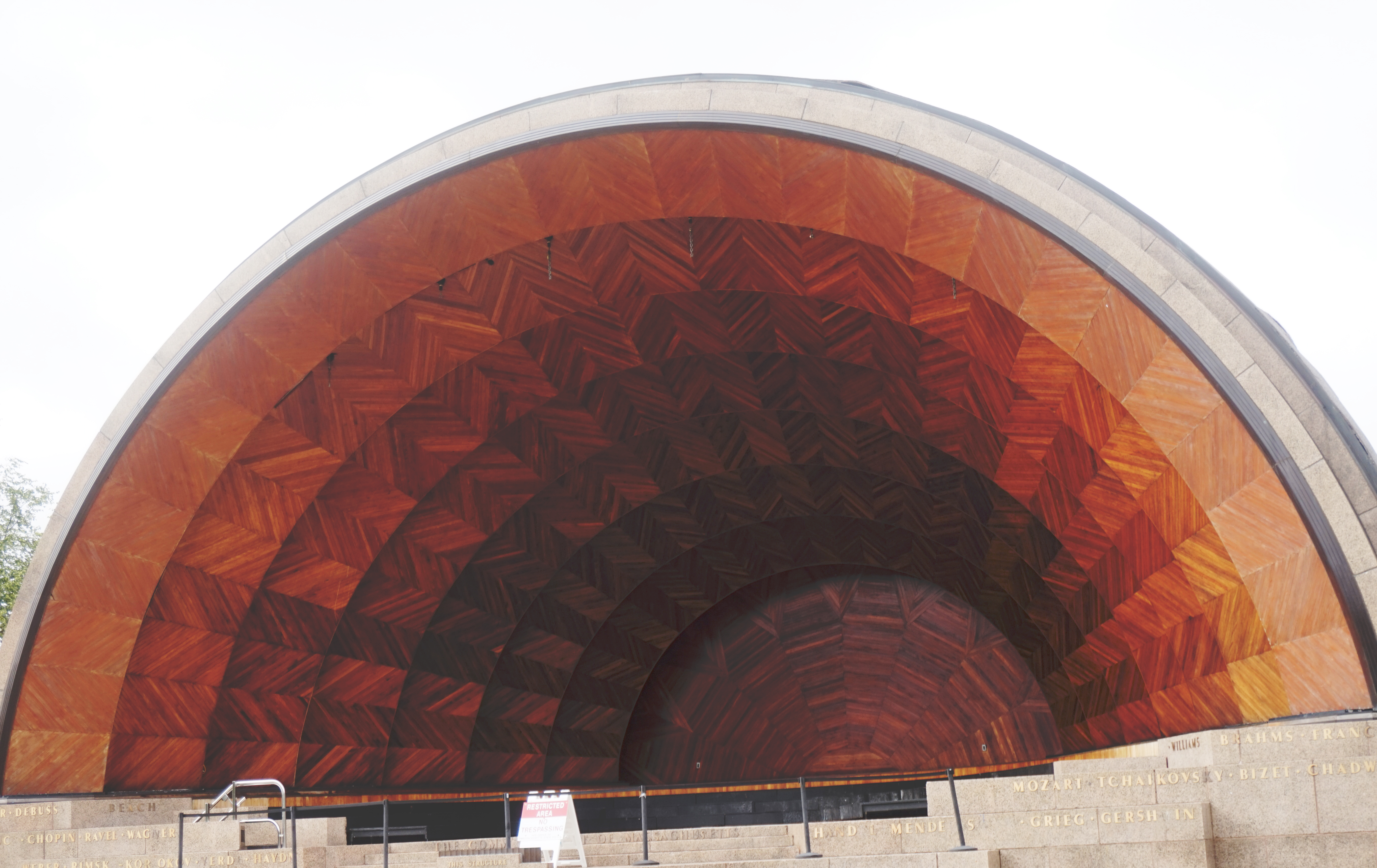 Hatch Shell. Typically used for concerts and outdoor activities